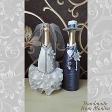 Nádoby - Svadobné návleky na fľaše - 10926748_
