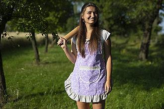 Iné oblečenie - DÁMSKÁ ZÁSTĚRA FIALOVÁ S KANÝREM - 10925150_