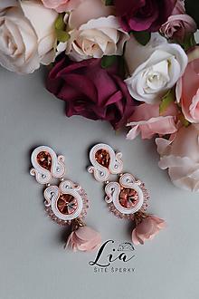 Náušnice - Soutache náušnice...Amelia (Ružová) - 10925309_