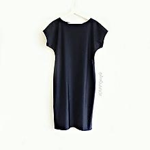 Šaty - Tmavomodré elegantné šaty - 10925803_