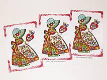 Papiernictvo - DIEVČATKO A VTÁČIK ♥ klasická pohľadnica - 10926527_