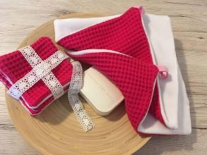 Úžitkový textil - Odličovacie vankúšiky - pampúšiky farba FUCHSIA - 10925999_