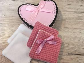 Úžitkový textil - Odličovacie vankúšiky - pampúšiky farba ROSE - 10926187_