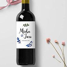 Papiernictvo - Etiketa na svadobné víno WINDY - 10925658_