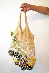 Nákupné tašky - Hačkovaná sieťovka - 10925614_