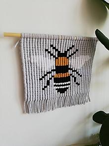 Dekorácie - Macrame obraz Bee Lullabee - 10925027_