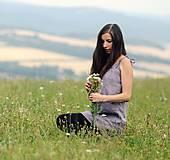 Topy - Lněný top / šaty Lila - 10926427_