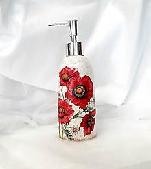 Nádoby - dávkovač na mydlo vlčie maky - 10925968_