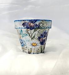 Nádoby - kvetináč lúčne kvety - 10926281_