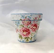 Nádoby - kvetináč ružičky - 10926329_