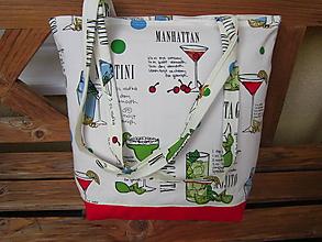 Nákupné tašky - Drinks - nákupná taška s receptami - 10926172_