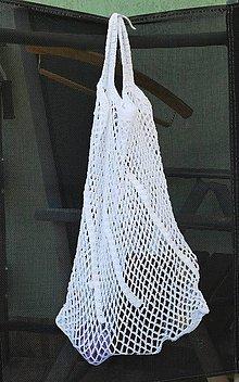 Nákupné tašky - bílá síťovka - 10926741_