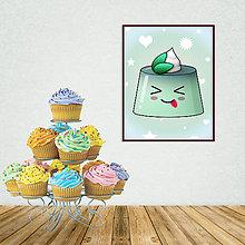 Grafika - Digitálna grafika puding(želé) bláznivý - 10926595_