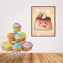 Grafika - Digitálna grafika puding(želé) bláznivý (čokoládový) - 10926597_
