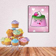 Grafika - Digitálna grafika puding(želé) bláznivý (malinový) - 10926599_