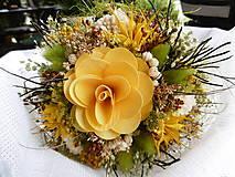 Dekorácie - Malá  žltá kytička - 10927523_