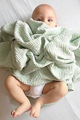 Textil - JEDNOFAREBNÁ  gázovinová prikrývka - farba na želanie - 10927283_