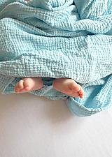 Textil - JEDNOFAREBNÁ  gázovinová prikrývka - farba na želanie - 10927286_