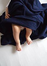 Textil - JEDNOFAREBNÁ  gázovinová prikrývka - farba na želanie - 10927287_
