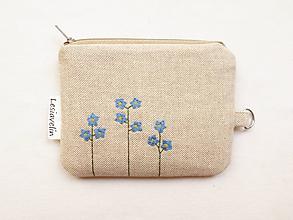 Peňaženky - Peňaženka/dokladovka - Nezábudky - 10928061_