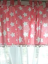 Úžitkový textil - Záclonka  hviezdy - 10928463_
