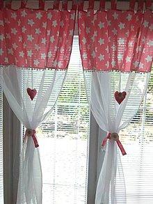 Úžitkový textil - Záclonka  hviezdy - 10928454_