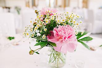 Dekorácie - Aranžmány na svadobný stôl - 10928993_