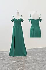 Šaty - Spoločenské šaty spustené na ramenách - 10927006_