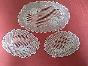 Úžitkový textil - Háčkované obrusy - 10928062_