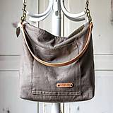 Veľké tašky - Veľká ľanová taška *stone* - 10927298_