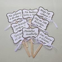Darčeky pre svadobčanov - Tabuľky na fotenie-G- hotové, ihneď k odberu, cena spolu za set - 10927255_
