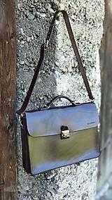Na notebook - Kožená notebooková taška/aktovka - 10928003_