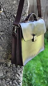 Na notebook - Kožená notebooková taška/aktovka - 10928004_