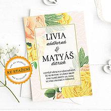 Papiernictvo - Svatební oznámení - Livia - 10927700_