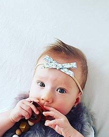 Detské doplnky - čelenka svetlomodré kvety - 10927003_