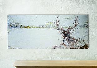 Obrazy - Olejomaľba Lapland - 10928060_