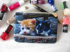 Taštičky - Taštička na mobil - zvědavá koťátka - 10926814_