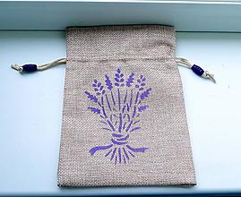 Úžitkový textil - vrecúško na levanduľu No.1 - 10927161_