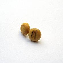 Náušnice - Drevené náušnice napichovacie - javor horský - 10927601_