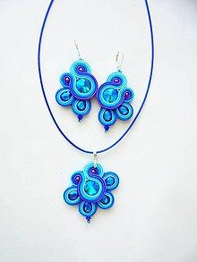Sady šperkov - modrotyrkysová - 10930660_