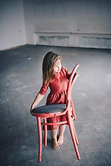 Detské oblečenie - Zoja šaty bordové - 10930291_