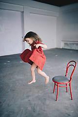 Detské oblečenie - Zoja šaty bordové - 10930301_