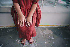 Detské oblečenie - Zoja šaty bordové - 10930303_