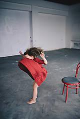 Detské oblečenie - Zoja šaty bordové - 10930304_