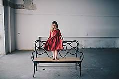 Detské oblečenie - Zoja šaty bordové - 10930308_