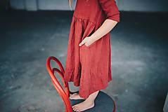 Detské oblečenie - Zoja šaty bordové - 10930311_