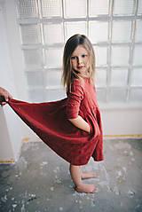 Detské oblečenie - Zoja šaty bordové - 10930315_