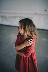 Detské oblečenie - Zoja šaty bordové - 10930319_