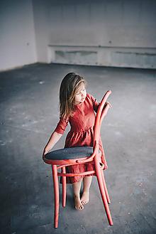 Detské oblečenie - Zoja šaty vínovočervené - 10930291_