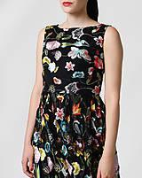 Šaty - Šaty čierne vyšívaná krajka dlhé - 10929396_